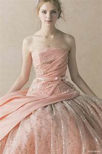 216 best images about pink blush gowns on pinterest for Pink and gold wedding dress