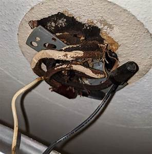 Updating Ceiling Light Fixture With Knob And Tube Wiring