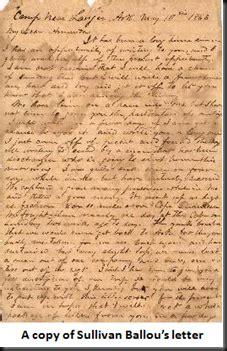 sullivan ballou letter dear the sullivan ballou letter thoughts 29933