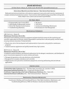 free electrician resume recentresumescom With electrician resume template