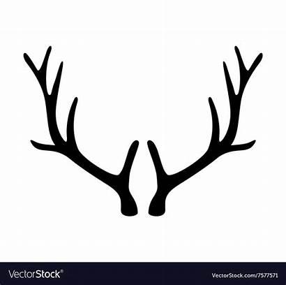 Deer Antler Vector Antlers Horns Clipart Icon