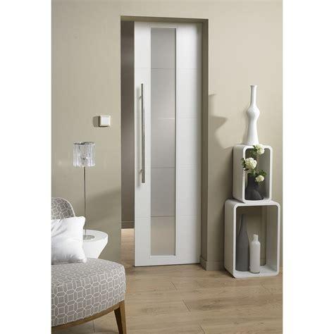 bloc porte cuisine bloc porte laquée blanc alaska 2 artens h 204 x l 83 cm
