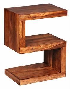 Regal 60 X 30 : wohnling beistelltisch massivholz sheesham s cube 60cm hoch wohnzimmer tisch design braun ~ Markanthonyermac.com Haus und Dekorationen
