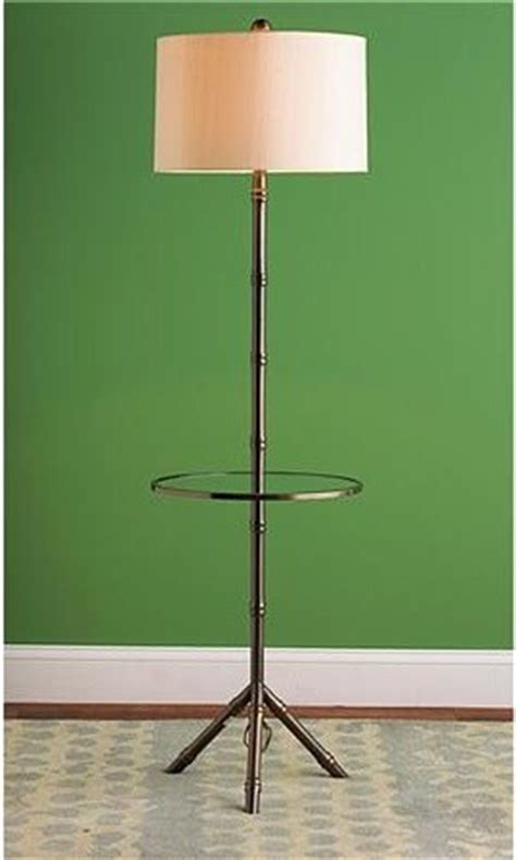 bamboo tray table floor lamp eclectic floor lamps