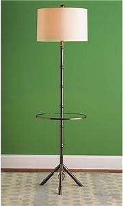 Bamboo tray table floor lamp eclectic floor lamps by for Floor lamp with tray uk
