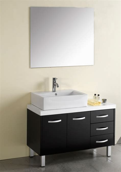 40 Inch Modern Single Sink Bathroom Vanity Espresso with