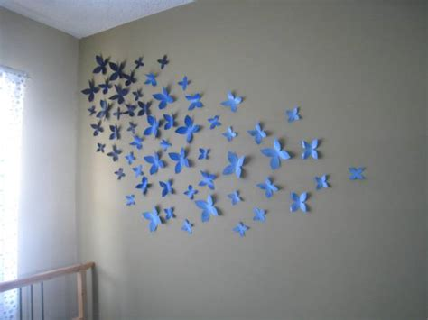 cheap  easy diy wall beautification  butterflies