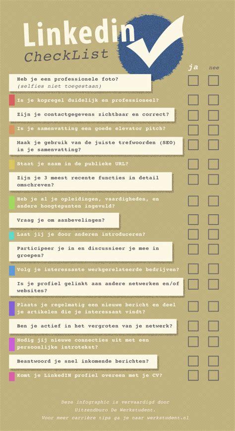 Curriculum Vitae Elevator Pitch by De Linkedin Profiel Checklist
