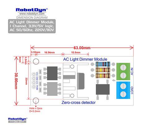 ac light dimmer module  channel vv logic ac