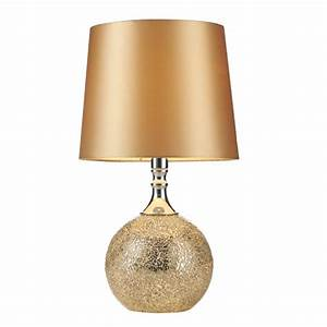 contemporary chrome gold mosaic table lamp with shade With gold mosaic floor lamp