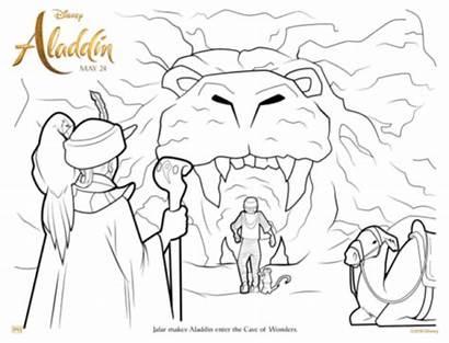 Cave Coloring Aladdin Wonders Sheet Disney Sheets