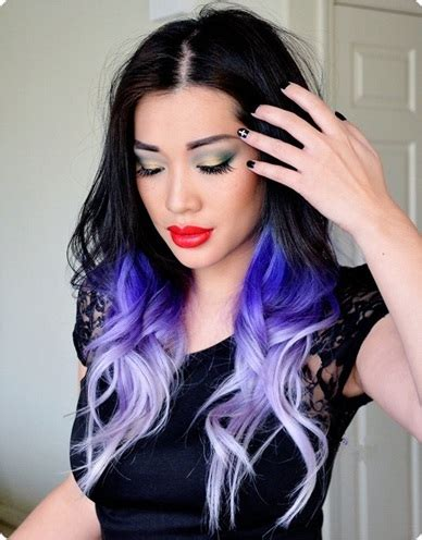 trend alert black  purple hair