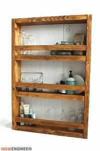 Apothecary Wall Shelf { Free DIY Plans } Rogue Engineer