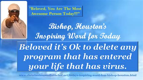 "Bishop Houston's ""inspiring Word For Today"""
