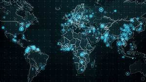 Stock Video Clip Of Decreases Diagram On The World Map