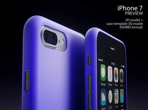 iphone 7 preview apple iphone 7 and 7 pro with templates 3d model max