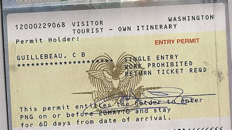 Visa for Papua New Guinea | Single entry Work prohibited ...