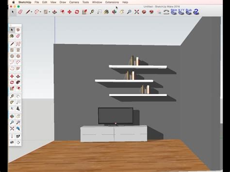 sketchup tutorial  beginners diy tv set furniture