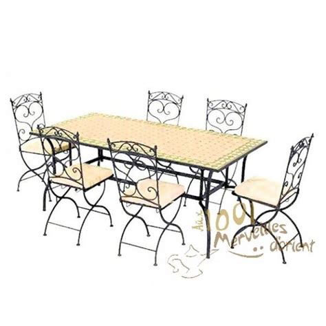 ensemble table et 6 chaises ensemble table 180 90 cm et 6 chaises marocain achat