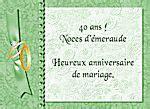anniversaire de mariage 40 ans cartes virtuelles anniversaire de mariage