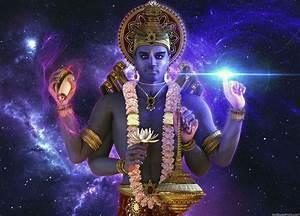 3d lord vishnu full hd wallpaper