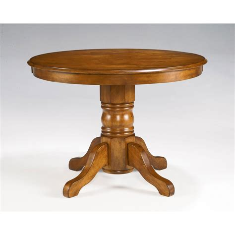 cottage oak pedestal dining table home styles