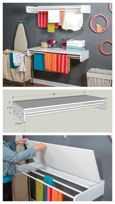 diy laundry drying  folding rack find   plans