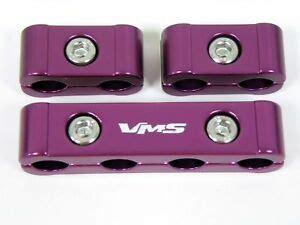 3pc billet wire separators spark ford chevy purple ebay
