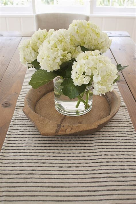 Flower Decoration Ideas For Kitchen by Hydrangea On Farmhouse Table Home Decor Dining Room