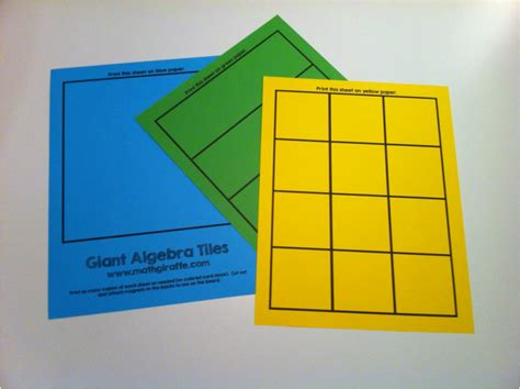 Free Interactive Algebra Tiles by Foldables And Interactive Notes Ideas On