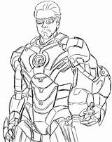 Coloring Machine Pages Sewing Iron War Marvel Stark Tony Machines Printable Simple Getcolorings Superhero Popular sketch template