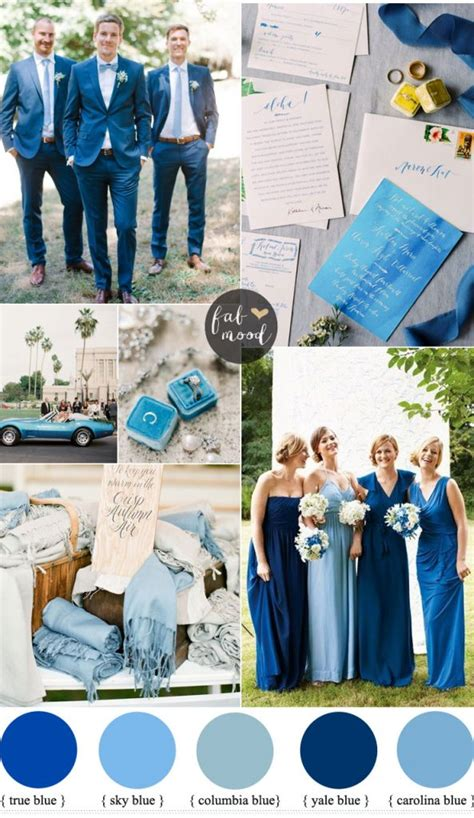 blue wedding color schemes blue wedding color theme for garden wedding
