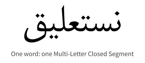 text layout requirements   arabic script