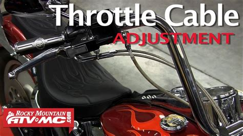 Throttle Cable Adjustment On A Harley Davidson (dual Cable