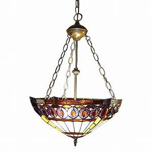 Serena d italia amberjack tiffany light bronze hanging