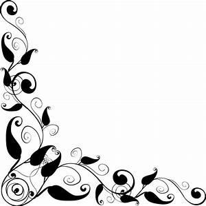 Floral Design corner frame vector - ClipArt Best | Clipart ...