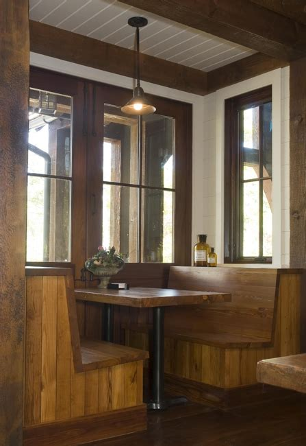 rustic lakehouse kitchen booth designs restaurant booth