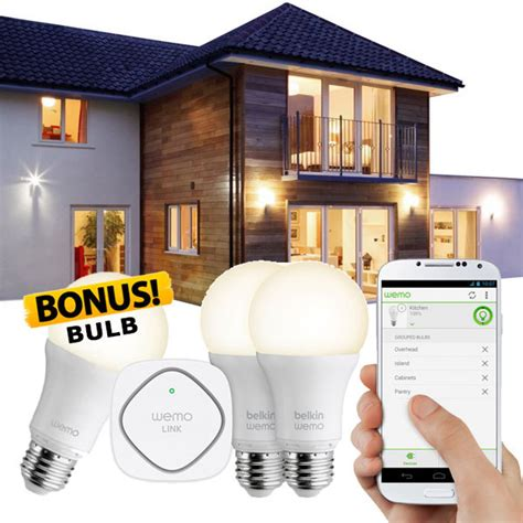 wemo led lighting starter set belkin wemo led lighting starter set f5z0489au