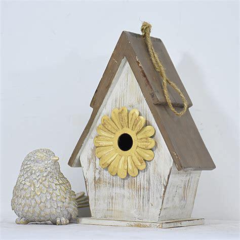 shabby chic rustic white mini wooden birdhouse kits  resin flower buy birdhouse kits
