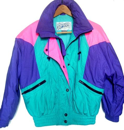 Womenu0026#39;s Vintage 80u0026#39;s Neon Colorblock Ski Jacket Profile Small | 80 s Neon and Vintage