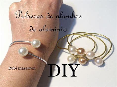 Diy Brazaletes de moda con alambre de aluminio y perlas