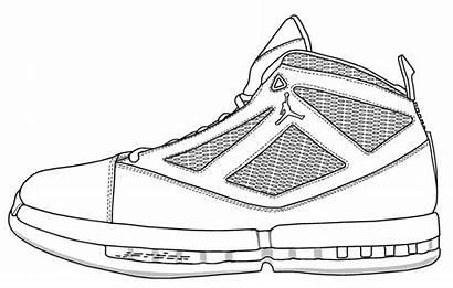 Air Jordans Jordan Coloring Shoe Drawing Shoes