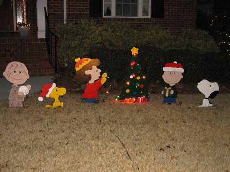charlie brown gang outdoor brown yard decorations doliquid