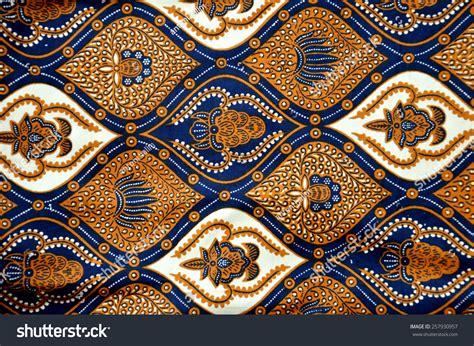 detailed patterns indonesia batik cloth stock photo