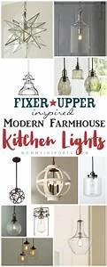 Fixer Upper Inspired Modern Farmhouse Kitchen Lights