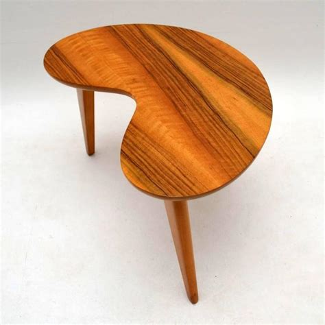 Retro Walnut Boomerang Coffee Table, Vintage, 1950s At 1stdibs