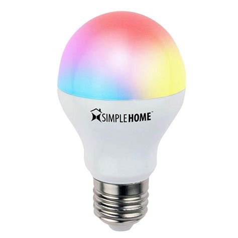 simple home wi fi smart led multi color light bulb xlb7