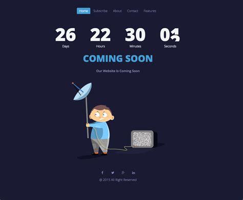 ukieboy responsive animated coming  template