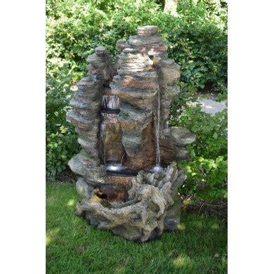 Fontaine de jardin Miami Ubbink de type cascade imitation tronc du0026#39;arbre