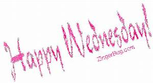 Happy Wednesday Pink Silver Glitter Glitter Graphic ...